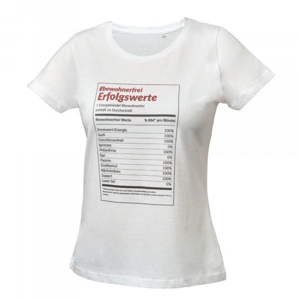 T-Shirt: #bewohnerfrei Erfolgswerte