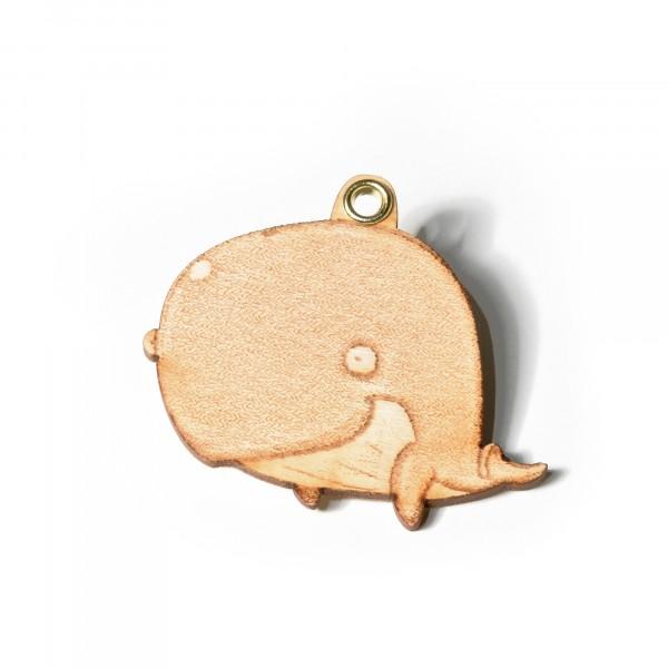 Schlüsselanhänger: Holz Wal