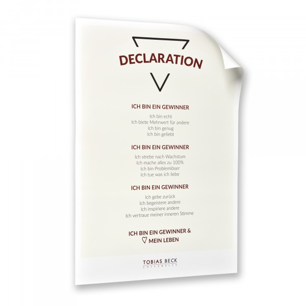 Poster A2: DECLARATION