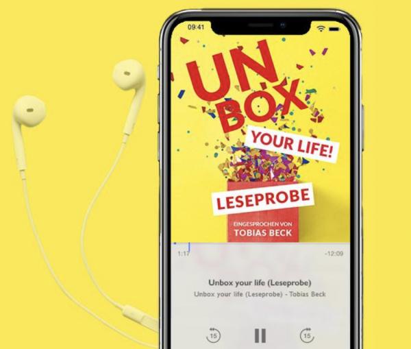 """Leseprobe von """"Unbox Your Life"""" im Audio Book Download"""