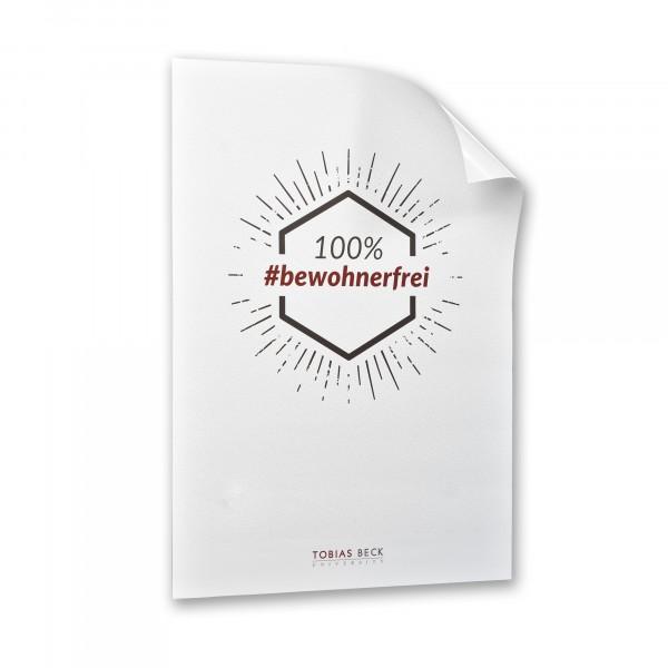Poster A2: 100% #bewohnerfrei